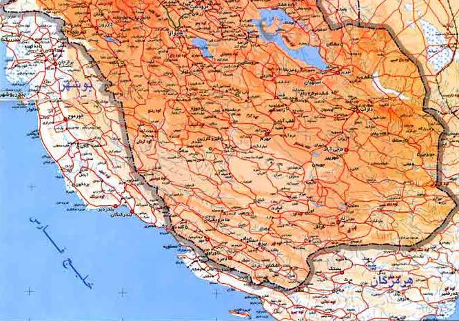 نقشه جنوب فارس